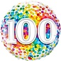 "Foil Balloon-18""-100th Birthday Colourful Dots"