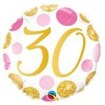 "Foil Balloon-30th Birthday-18"""