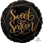"""Foil Balloon-Elegant Sweet Sixteen-18"""""""