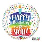 "Foil Balloon 18""-Happy Birthday Rainbow Cake"