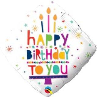 "Foil Balloon-18""=Happy Birthday Diamond"