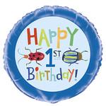 "Foil Balloon 18""-First Birthday Bugs"