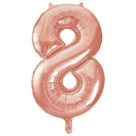 Foil Balloon-# 8-Rose Gold-34''