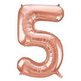 Foil Balloon-#5-Rose Gold-34''