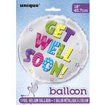"Foil Balloon 18""-Get Well Soon Silver"