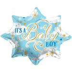 """Foil Balloon -Its A Baby Boy/Star Shaped 20"""""""