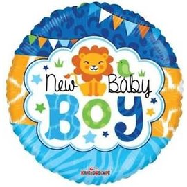 "Foil Balloon - New Baby Boy Jungle 18"""