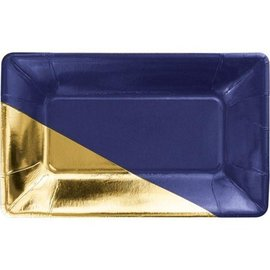 Appetizer Plates - Navy Blue & Gold