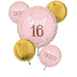 Balloon Bouquet-Sweet 16-5pk