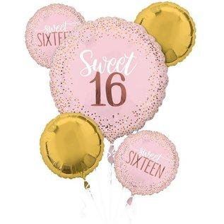 Balloon Bouquet-Sweet 16-5pk