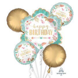 Foil-Balloons - Boho Birthday Celebrations -5pk