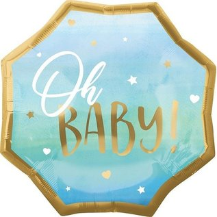 Foil Balloon - Blue Oh Baby/ 22""