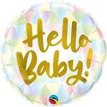 Foil Balloon-Standard-Hello Baby Pastel