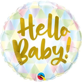 "Foil Balloon - Hello Baby Circle Shaped/18"""