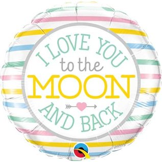 """Foil Balloon - I love you to the moon and back/ 18"""""""
