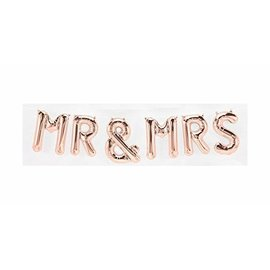 Air Filled-Mr & Mrs-Rose Gold-7pcs