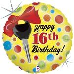 "Foil Balloon-Happy 16th Birthday-18"""