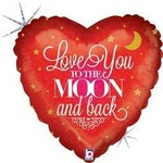 """Foil Balloon-Love you to the Moon and Back-18"""""""