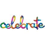"Air Filled-Celebrate-Rainbow-59"" x 20"""