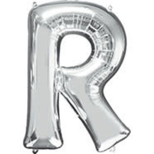 "Foil Balloon-Letter R-32""-Silver"