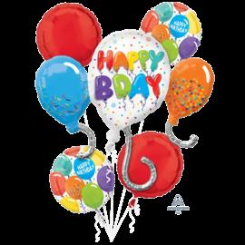 Foil Balloon-Birthday Celebration Bouquet -5pk