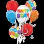 Foil Balloon-Happy Birthday Bouquet-5pk