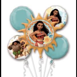 Foil Balloon- Moana Bouquet- 5pk