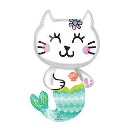 Foil Balloon-Supershape-Mermaid Kitty