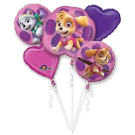 Foil Balloon-5pc Bouquet-Sky and Everest-Paw Patrol