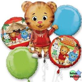 Foil Balloon- Daniel Tiger's Neighborhood Bouquet- 5pk