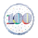 "Foil Balloon-100th Birthday-18"""