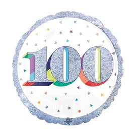 Foil Balloon-100th Birthday-18""