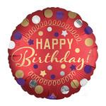 Foil-Happy Birthday/Red