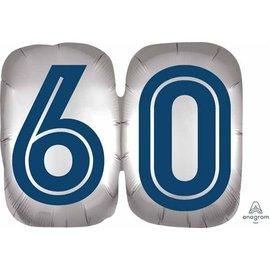 "Foil balloon-60th Birthday-Happy Birthday Man-25"""