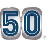 "Foil Balloon-50th Birthday-Happy Birthday To You Man-25"""