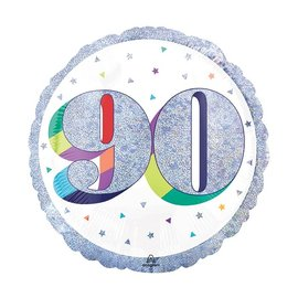 "Foil Balloon-90th Birthday-18"""