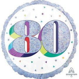 "Foil Balloon-80th Birthday-18"""