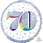 "Foil Balloon-70th Birthday-18"""