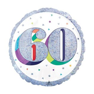 "Foil Balloon-60th Birthday-18"""