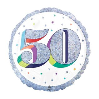 Foil Balloon-50th Birthday-18""