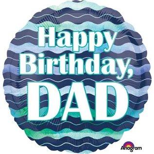 "Foil Balloon-Happy Birthday Dad-18"""