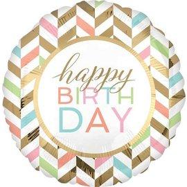 Foil Balloon- Pastel Celebration-Happy birth day