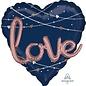 "Balloons-Supershape 3D-Navy Love-27"""