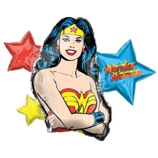 "Foil Balloon-Supershape-Wonderwoman-33"" x 26"""