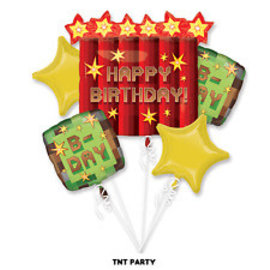Foil Balloon Bouquet-TNT Party-5pk