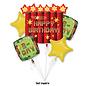Foil Balloon Bouquet-TNT Party-5pk