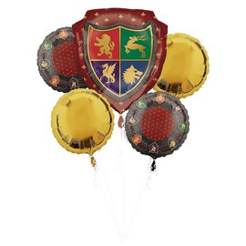 Foil Balloon-5pc Bouquet-Medieveal Shields