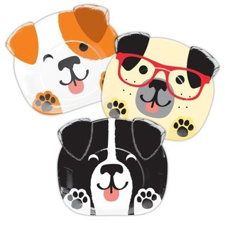 """Paper Plates - Dog Party/8 Count/ 8.75""""x7.7"""""""