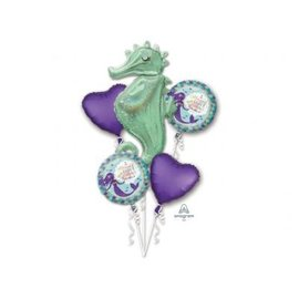 Foil Balloon - 5pc Bouquet - Mermaid Wishes