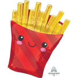 "Foil Balloon - Smiling Fry/ 28"""